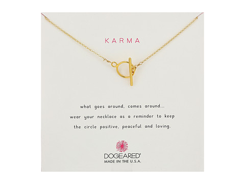 Dogeared Karma Toggle Necklace - Gold Dipped