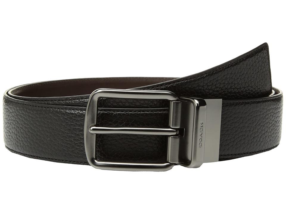 COACH - Wide Reversible Belt (Black/Mahogany) Mens Belts