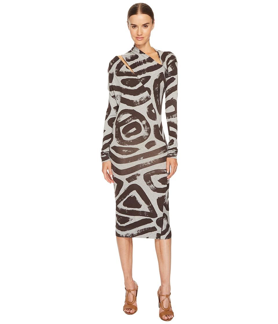 Vivienne Westwood Timans Printed Long Sleeve Dress (Grey) Women