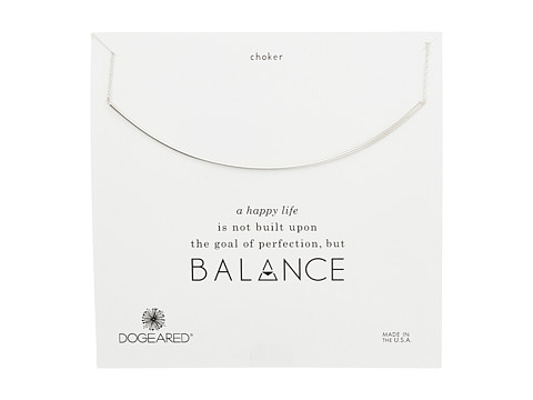 Dogeared Balance Delicate Bar Choker Necklace - Sterling Silver