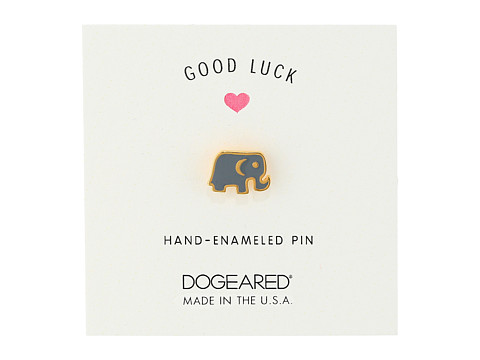 Dogeared Good Luck Pin - Gold Dipped