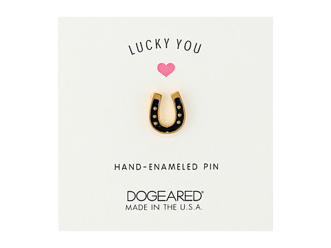 Dogeared Lucky You Pin - Gold Dipped