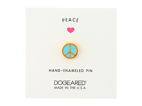 Dogeared Peace Pin - Gold Dipped