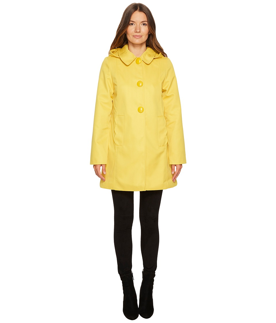 Kate Spade New York - Rain Button Front Hooded Jacket (Ye...