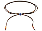 "42"" Adjustable Semi-Precious Stone and Raw Cut Leather Choker"