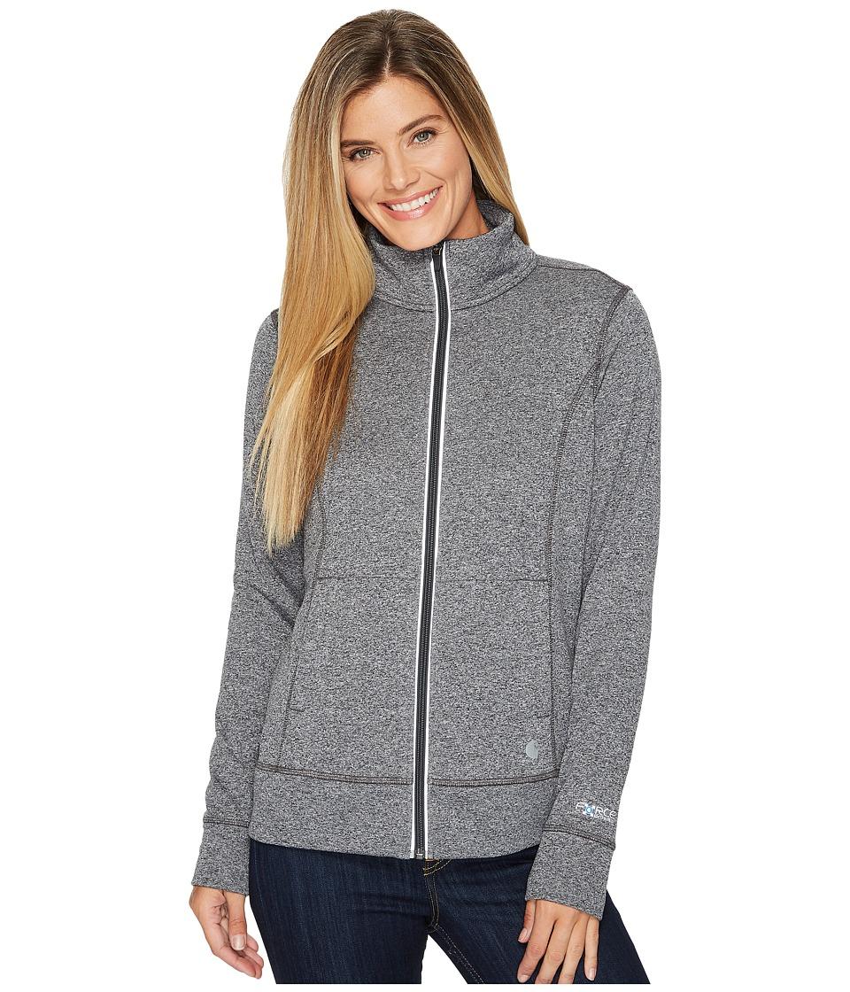 Carhartt Force Extremes Zip Front Sweatshirt (Black Heather) Women