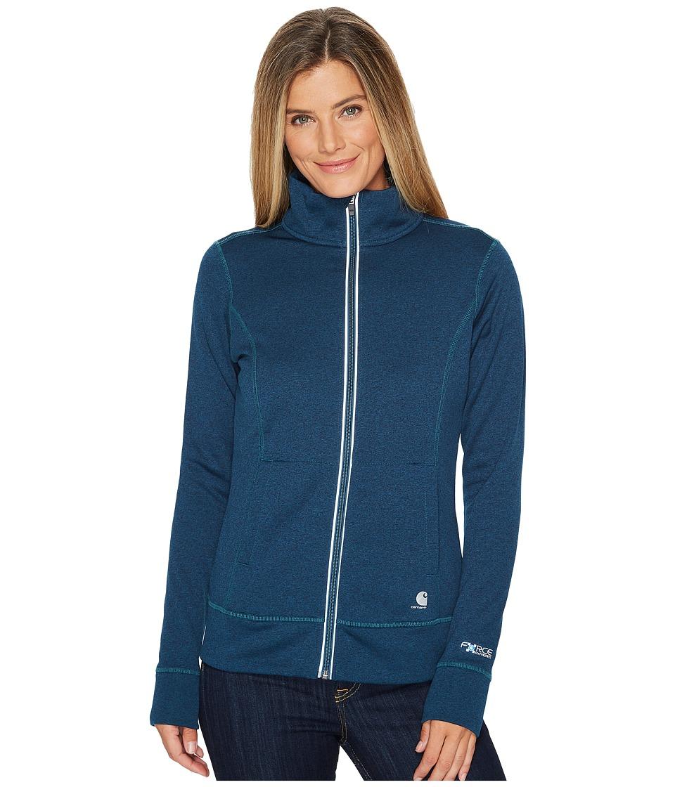 Carhartt Force Extremes Zip Front Sweatshirt (Dark Stream Heather) Women