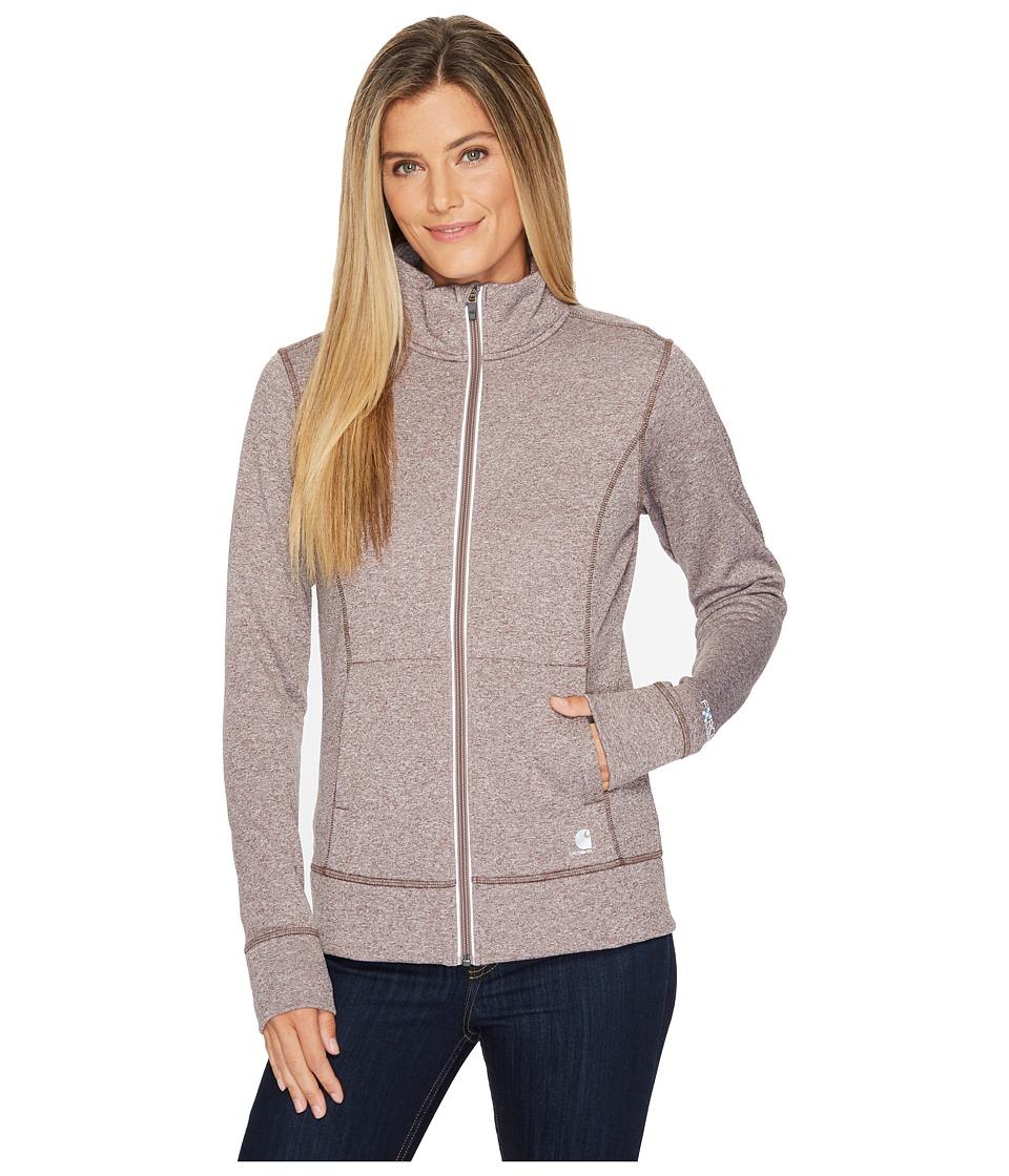Carhartt Force Extremes Zip Front Sweatshirt (Sparrow Heather) Women