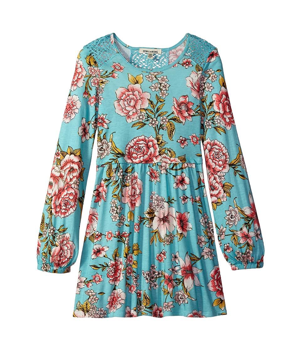 Billabong Kids Me Oh My Dress (Little Kids/Big Kids) (Tiki Turquoise) Girl