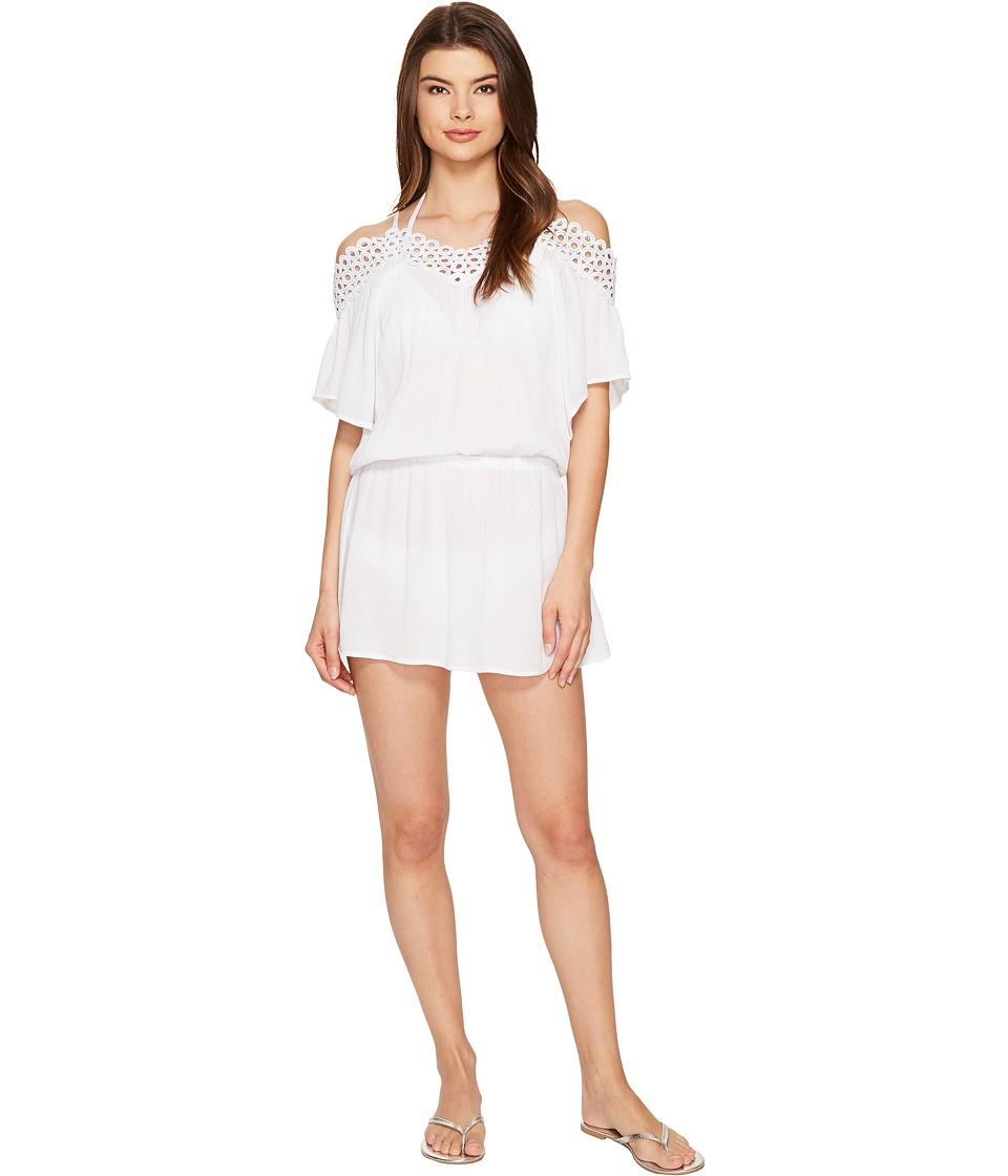 BECCA by Rebecca Virtue Siren Off the Shoulder Dress Cover-Up (White) Women