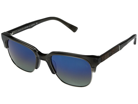 Shwood Newport Acetate & Wood - Polarized - Charcoal/Elm Burl/Blue Flash Polarized