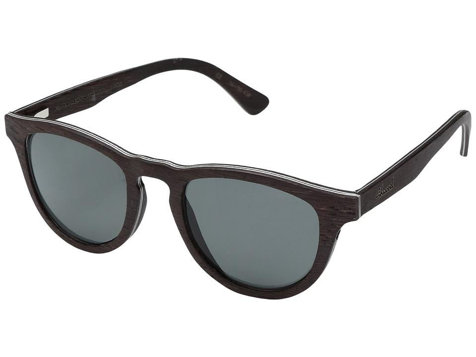 Shwood Francis Wood Sunglasses Polarized (Dark Walnut/Grey Polarized) Polarized Sport Sunglasses