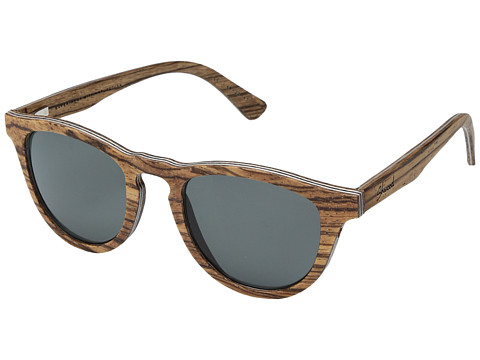 Shwood Francis Wood Sunglasses - Polarized - Zebrawood/Grey Polarized