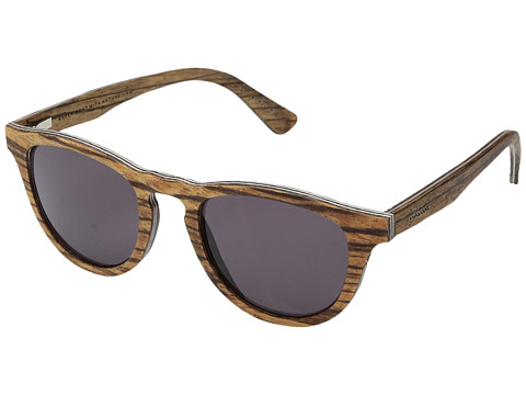 Shwood Francis Wood Sunglasses - Zebrawood/Grey