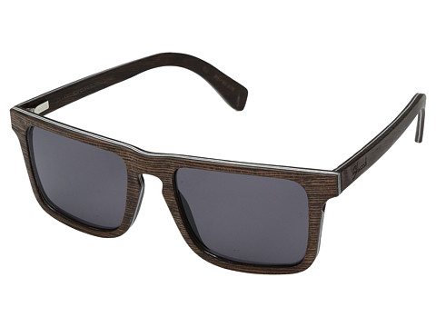 Shwood Govy 2 Wood Sunglasses - Dark Walnut/Grey