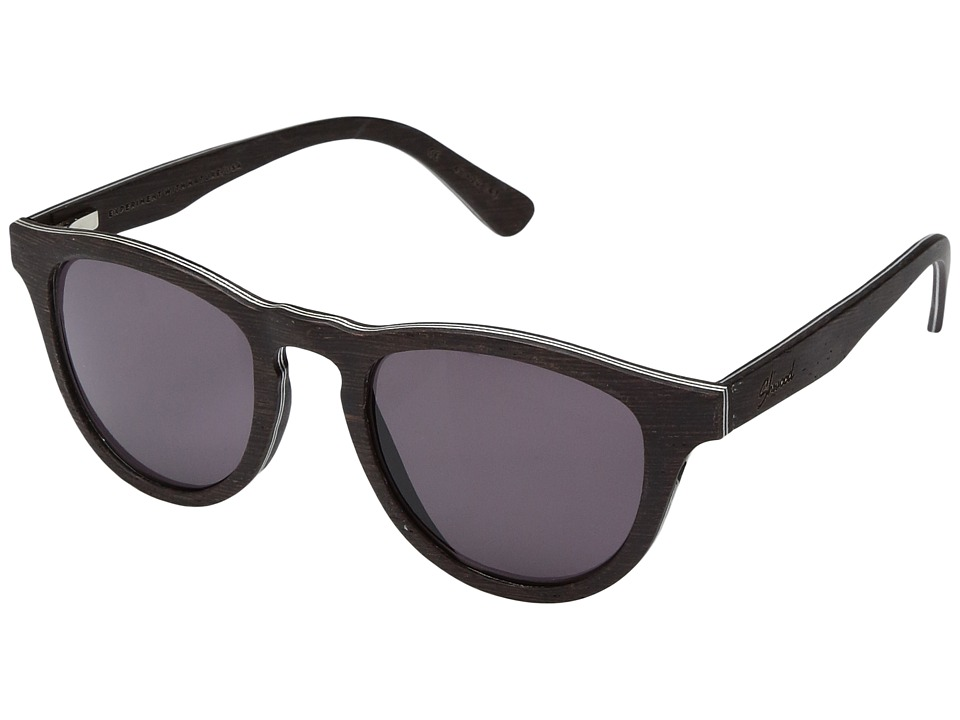 Shwood Francis Wood Sunglasses (Dark Walnut/Grey) Athletic Performance Sport Sunglasses