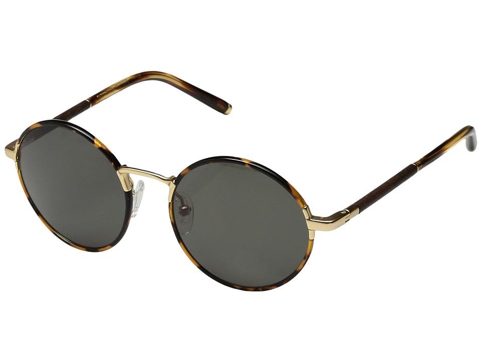 Shwood Hawthorne Acetate Wood (Tortoise/Matte Gold/Ebony/G15) Athletic Performance Sport Sunglasses