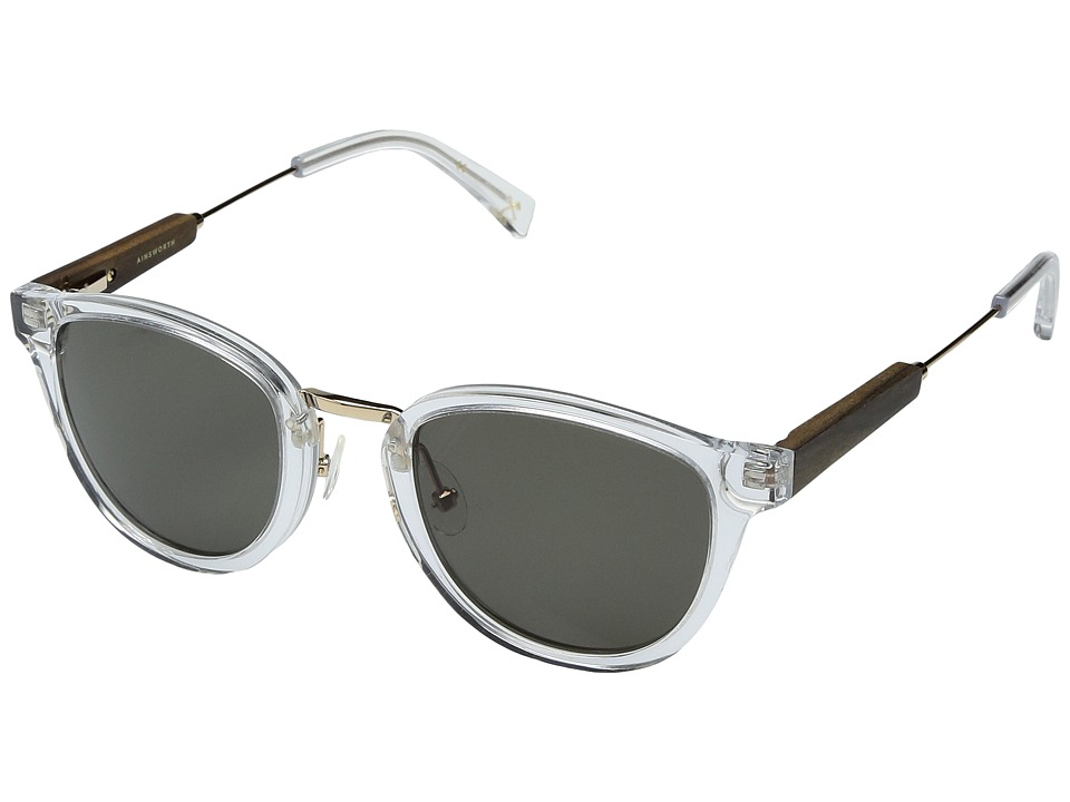 Shwood Ainsworth Acetate Wood (Crystal/Gold/G15) Athletic Performance Sport Sunglasses