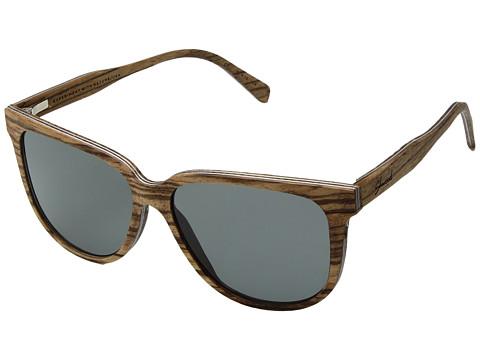 Shwood Mckenzie Wood Sunglasses - Polarized - Zebrawood/Grey Polarized