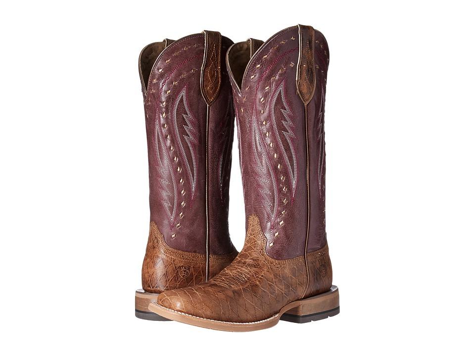Ariat Callahan (Cattleguard Tan/Mulberry) Cowboy Boots