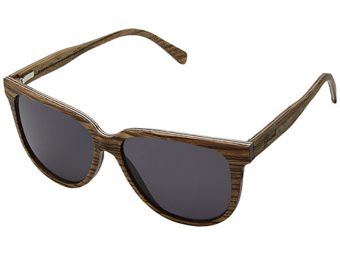 Shwood Mckenzie Wood Sunglasses - Zebrawood/Grey