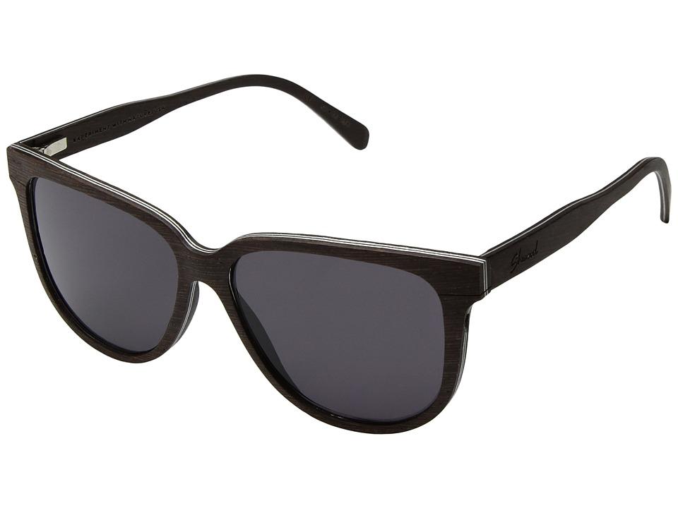 Shwood Mckenzie Wood Sunglasses (Dark Walnut/Grey) Sport Sunglasses