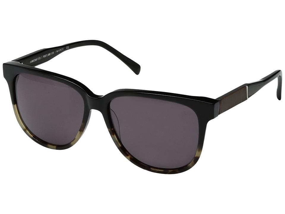 Shwood Mckenzie Acetate Wood (Black Olive/Elm Burl/Grey) Sport Sunglasses