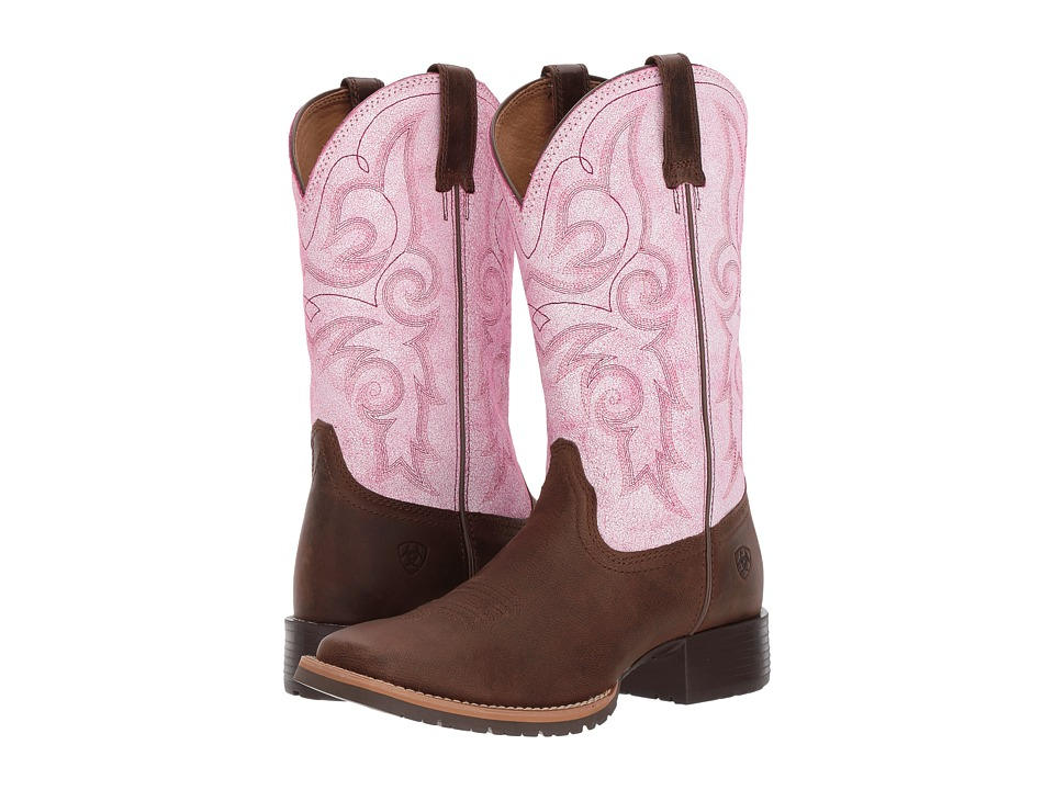 Ariat Hybrid Rancher (Barnwood/Distressed Pink) Cowboy Boots