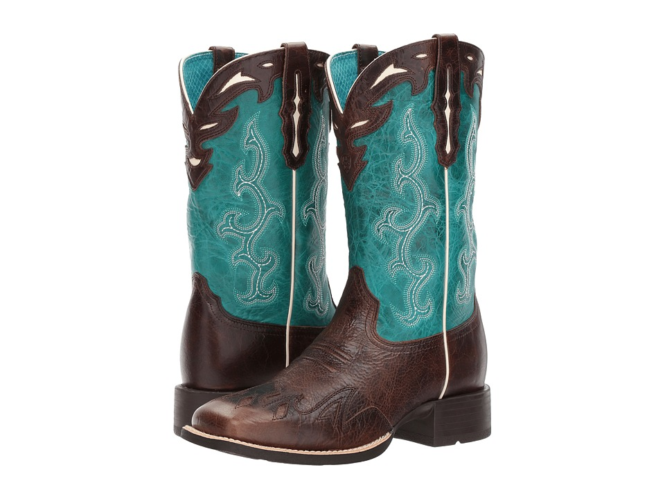 Ariat Sidekick (Chocolate Chip/Turquoise) Cowboy Boots