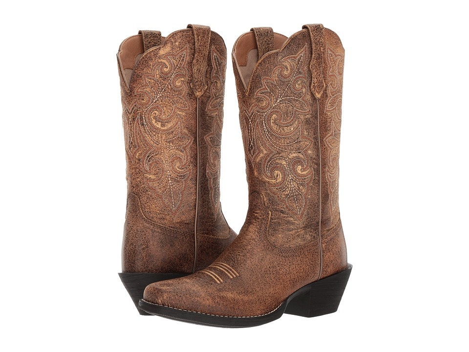 Ariat Round Up Square Toe (Vintage Bomber) Cowboy Boots