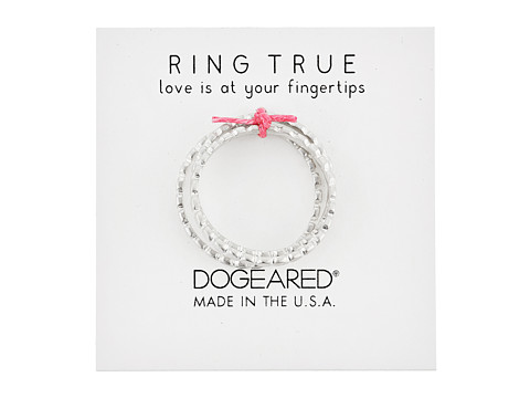 Dogeared The Circle Thin Multi Circle Rings Set of 3 - Sterling Silver