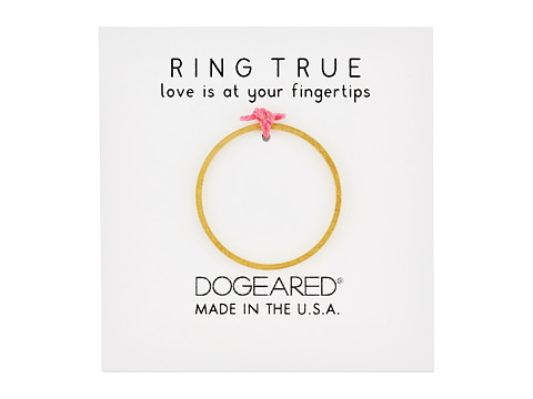 Dogeared Thin Flat Band Ring - Gold Dipped