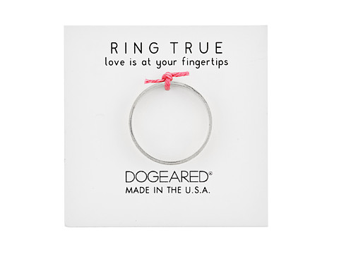 Dogeared Wide Flat Ring - Sterling Silver