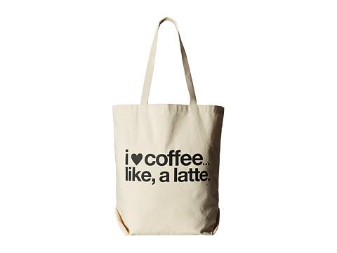 Dogeared I (Heart) Coffee Like A Latte Tote - Black/Canvas