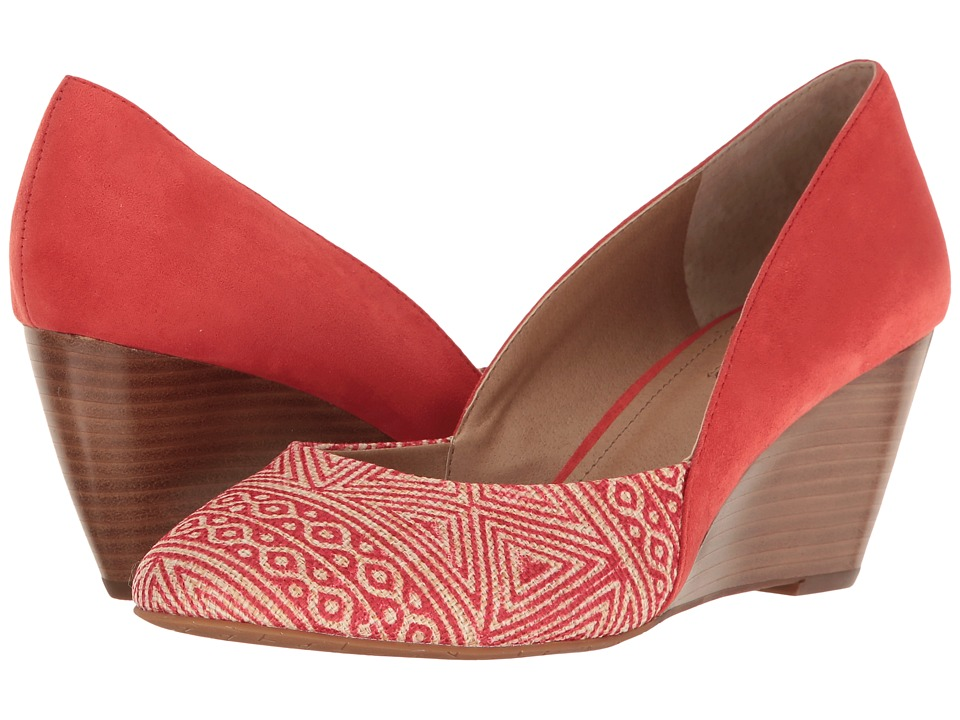 Tahari Palace (Coral Aztec Fabric/Leather) Women
