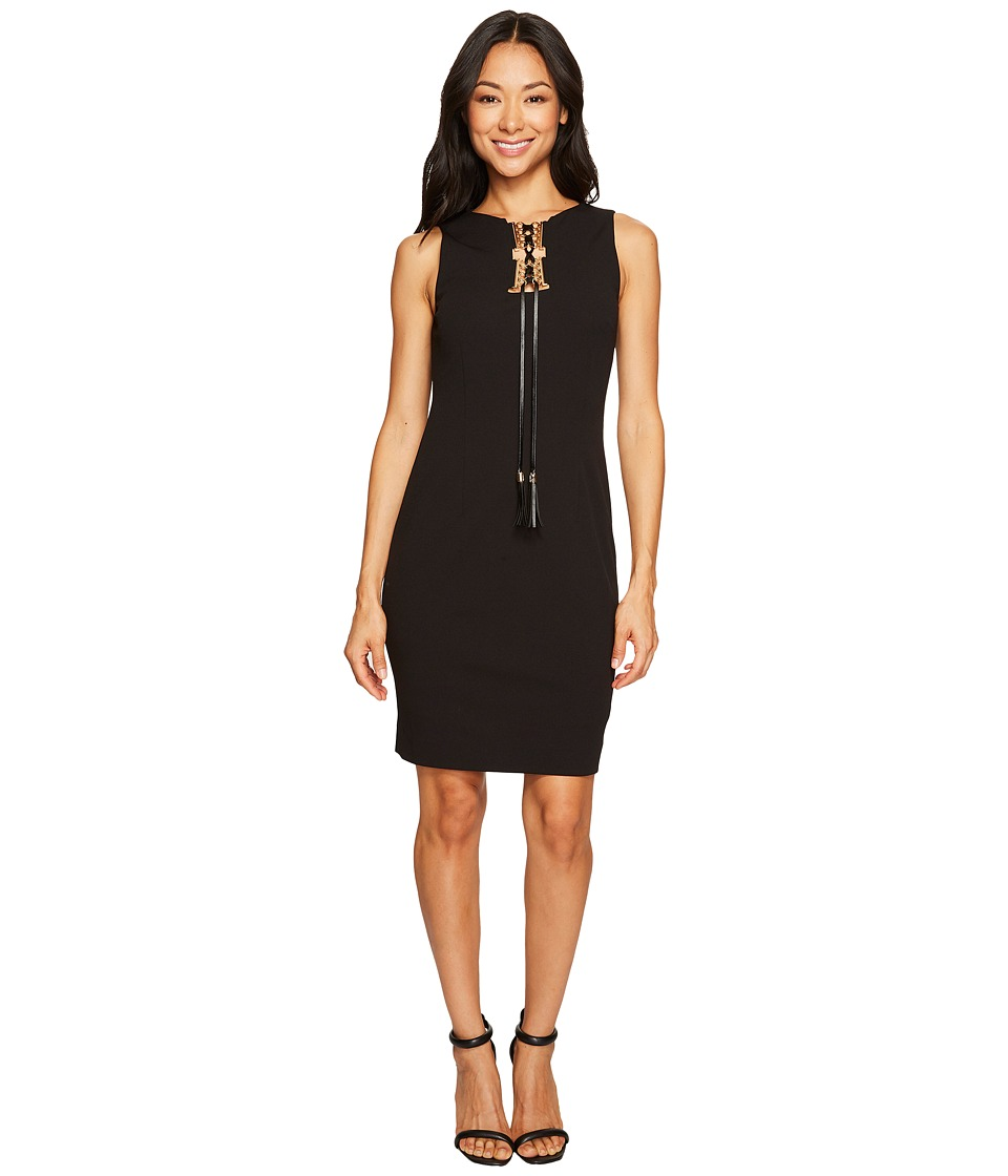 Tahari by ASL Petite - Petite Lace-Up Sleeveless Sheath Dress