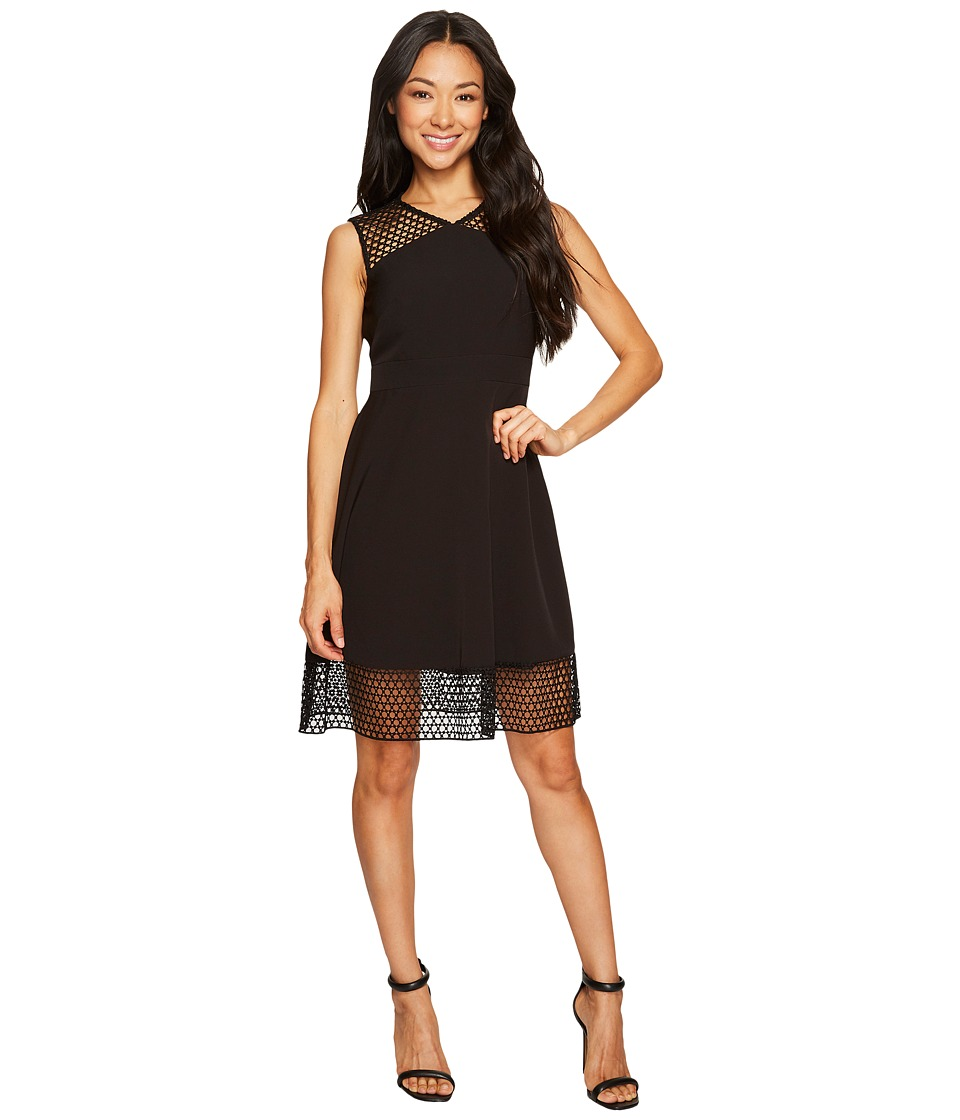Tahari by ASL Petite - Petite Embroidery Trim Fit and Flare Dress