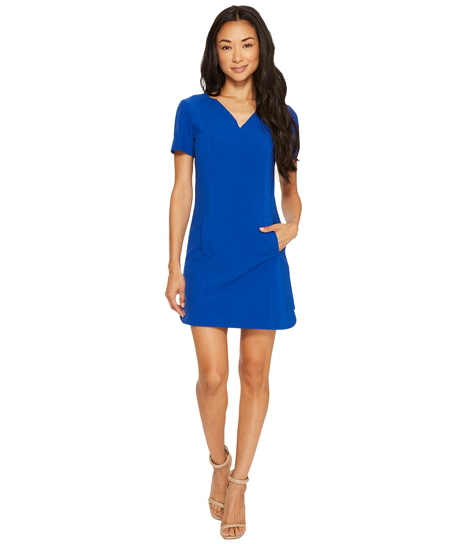 Tahari by ASL Petite Petite Shift Dress with Pockets (Pacific Blue) Women