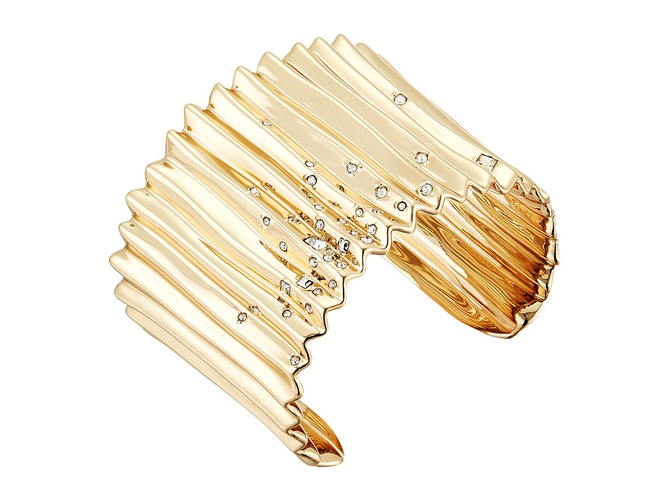 Alexis Bittar - Crystal Studded Pleated Cuff Bracelet