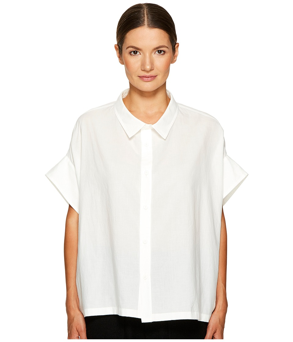 Y's by Yohji Yamamoto - Mini Sleeve Short Button Up Top