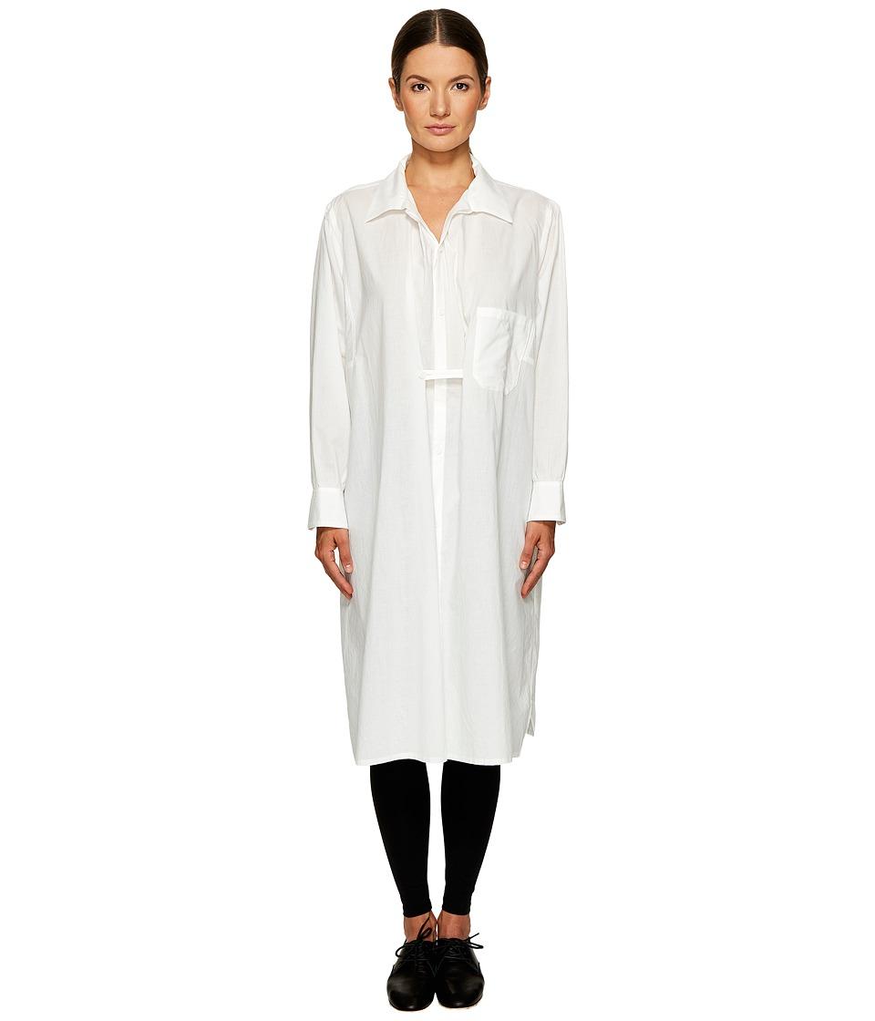 Ys by Yohji Yamamoto - Tab Shirtdress (White) Womens Dress