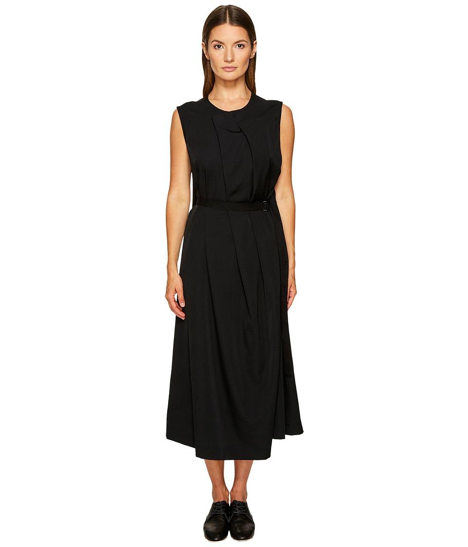 Ys by Yohji Yamamoto - Pleats Long Dress (Black) Womens Dress