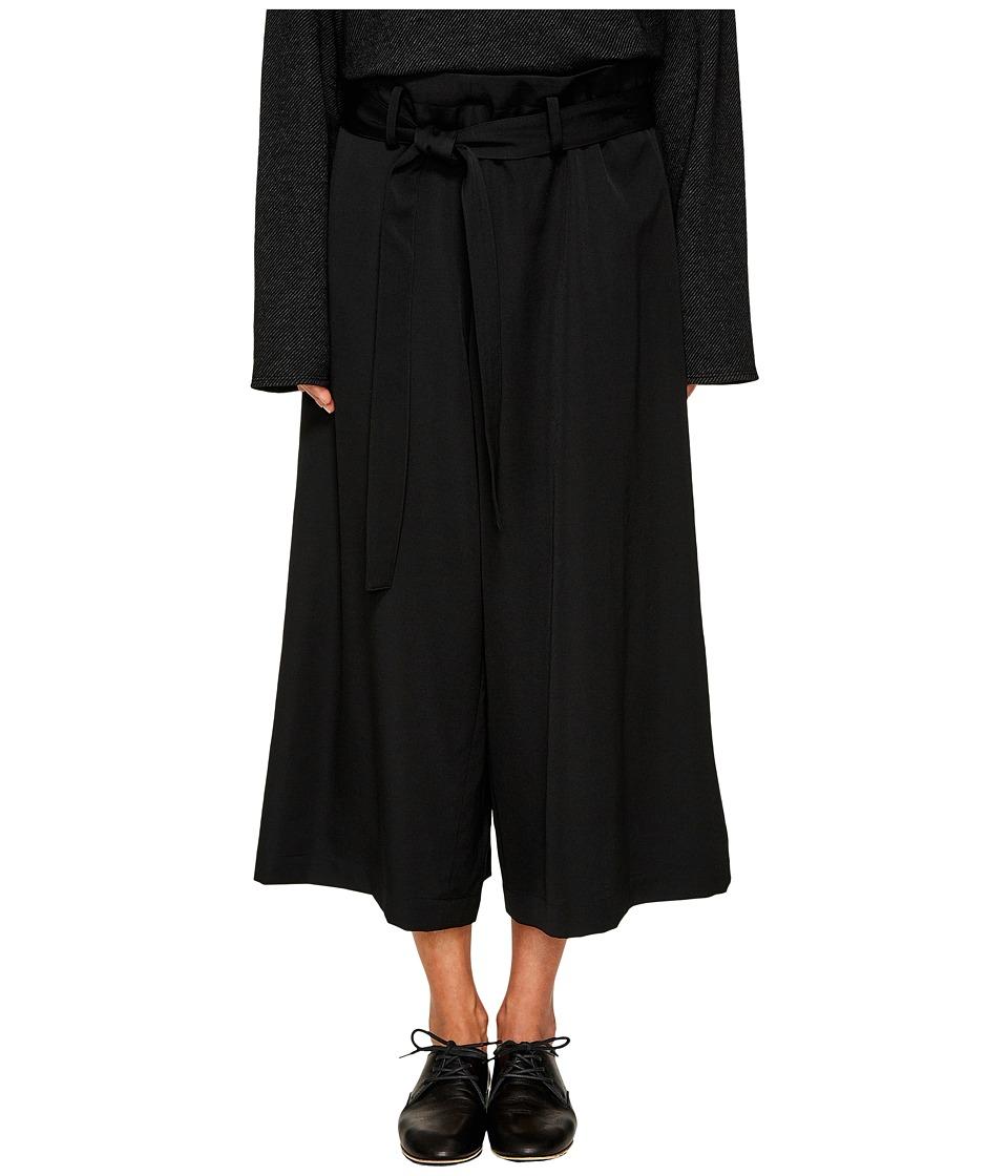 Y's by Yohji Yamamoto - Belted Palazzo Pants (Black) Wome...