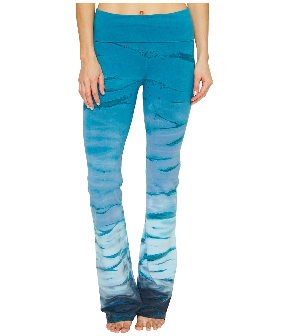 Hard Tail Rolldown Bootleg Flare Pants (Rainbow Horizon 51) Women