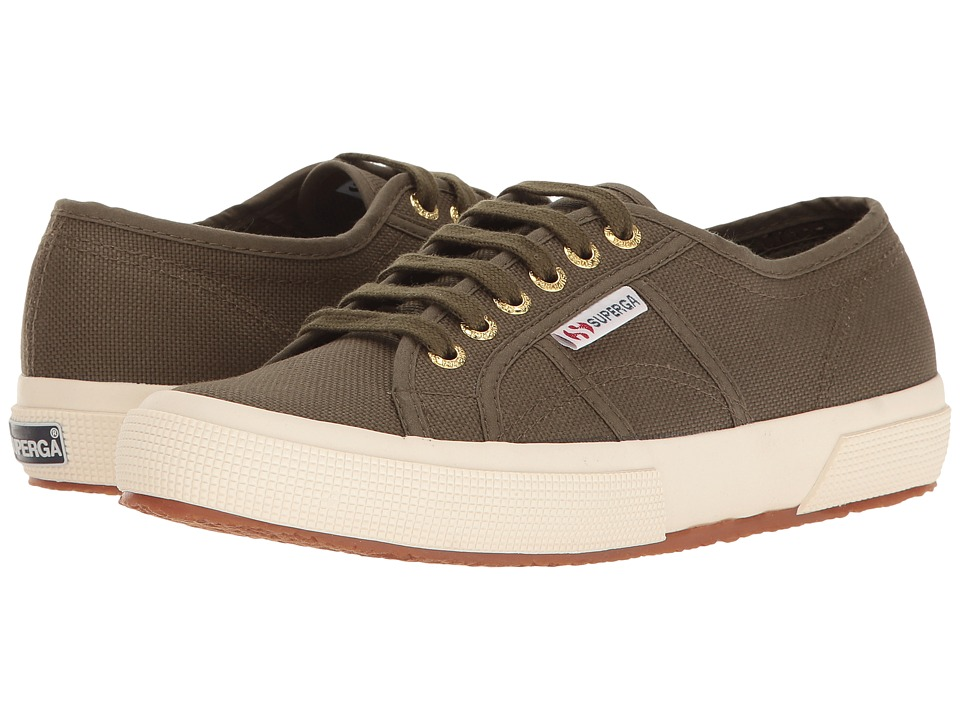 Superga 2750 COTU Classic (Military/Off-White) Lace up casual Shoes