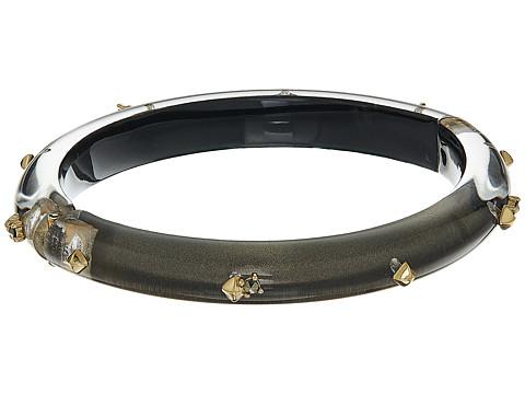Alexis Bittar Gold Studded Hinge Bracelet - Ash