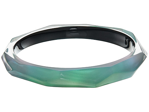 Alexis Bittar Faceted Bangle Bracelet - Clear Green Opalescent