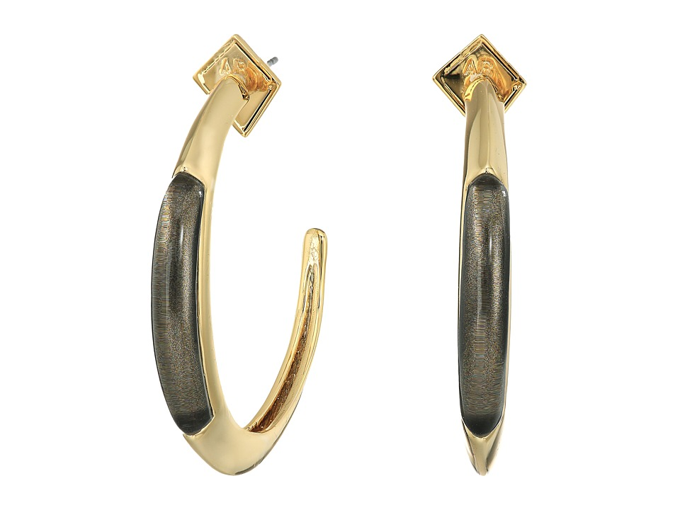 Alexis Bittar Crescent Hoop Earrings Ash 1 Earring