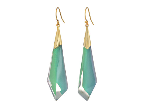 Alexis Bittar Faceted Wire Earrings - Clear Green Opalescent