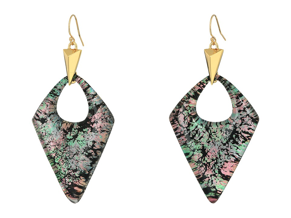 Alexis Bittar Pointed Pyramid Drop Earrings (Abalone Patt...